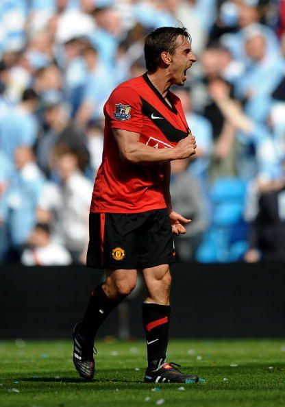 Gary Neville during his reign at Manchester United