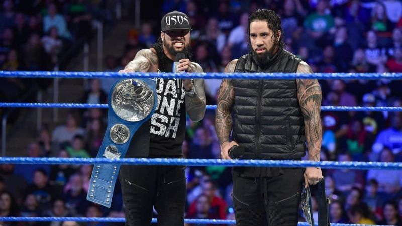 The Usos lost the SmackDown Tag Team Championship