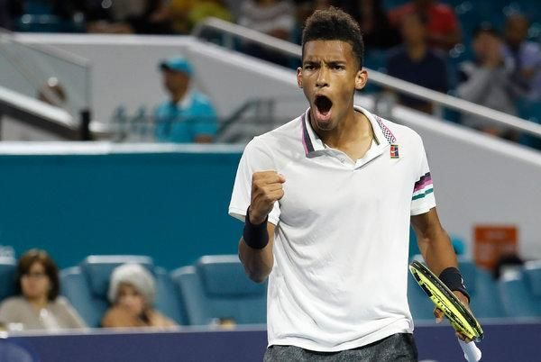 Felix Auger-Aliassime reached his second ATP semi-final in Miami 2019