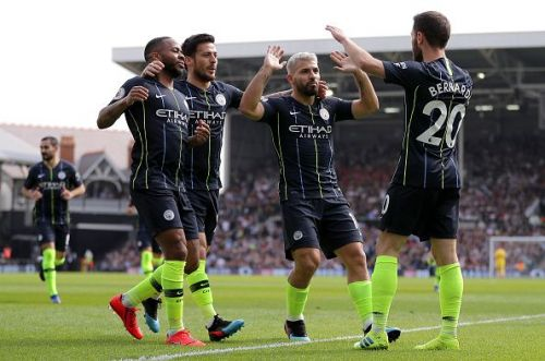 Fulham were defeated 2-0 with goals from Aguero and Silva