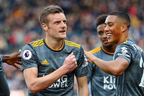 Huddersfield two defeated 4-1 after goals from Vardy, Tielemans, and Maddison.