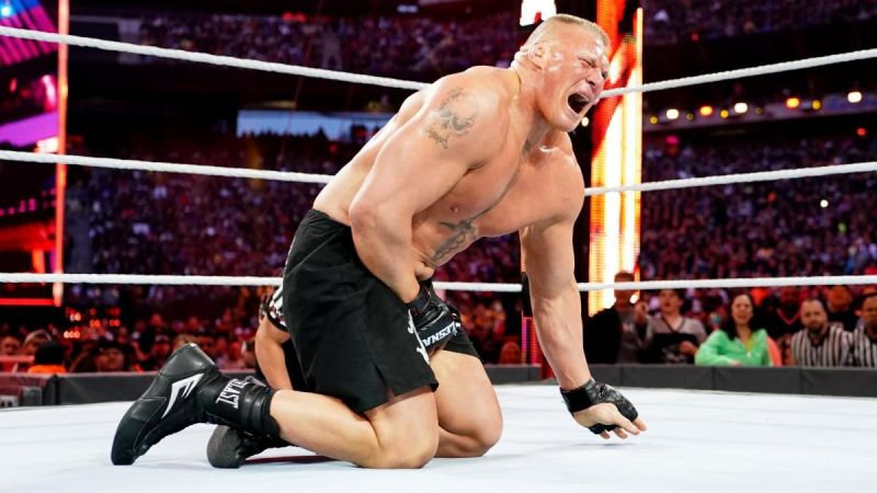 Brock Lesnar suffered a humiliating defeat