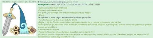 A 4chan post from a year ago