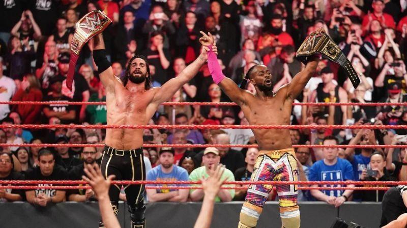 Seth Rollins and Kofi Kingston - Champions!