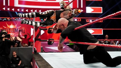 Rey Mysterio was injured during his match on RAW