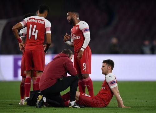 Ramsey injury in .S.C. Napoli v Arsenal