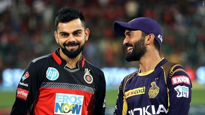 Both Virat Kohli and Dinesh Karthik have faced a lot of criticism for their bad captaincy. (Picture courtesy: iplt20.com)