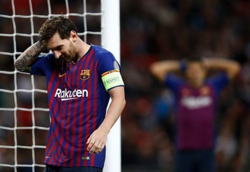 Messi has struggled in the Champions League quarter-finals