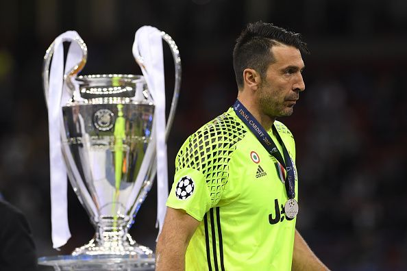 Buffon was twice a Champions League runner-up