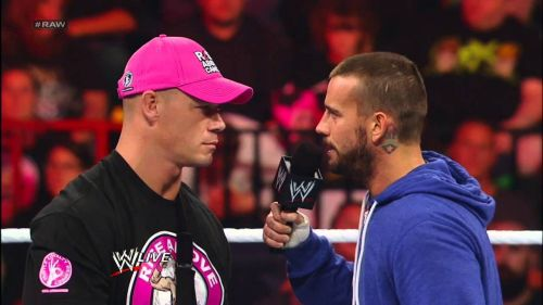 Image result for cm punk vs john cena