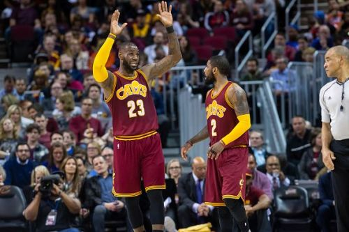 Irving previously spent three years alongside LeBron in Cleveland