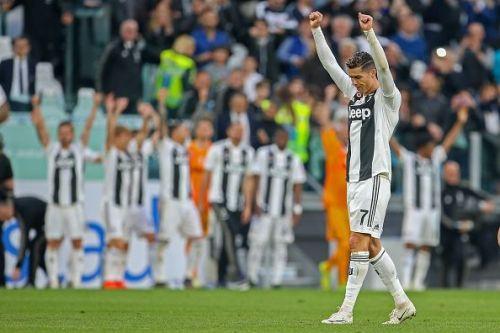 Juventus v ACF Fiorentina - Serie A Ronaldo celebrated Juventus' win