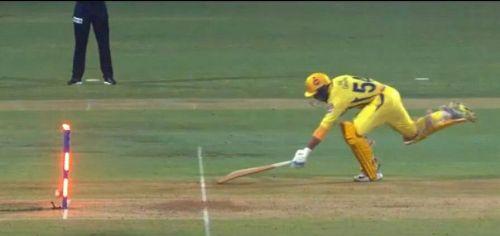 Shardul Thakur failed to steal a single off the last ball