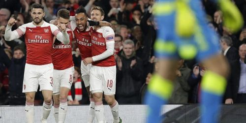 Arsenal beat Napoli by 2-0 to be in the driving seat for semi-final spots