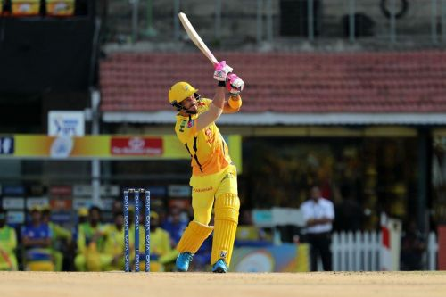 Du Plessis scored 54 runs off 38 balls at a strike rate of 142