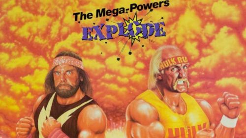 One of WrestleMania V's posters