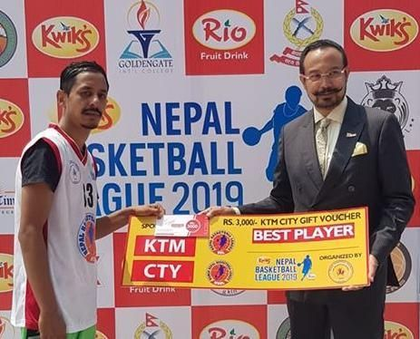 Rabin Khatri of Nepal Army Club with 29 points, 4 assists and 3 stealswas declared man of the match
