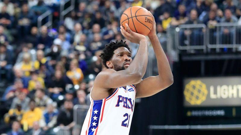 Joel Embiid Philadelphia 76ers v Indiana Pacers NBA regular season 17012019