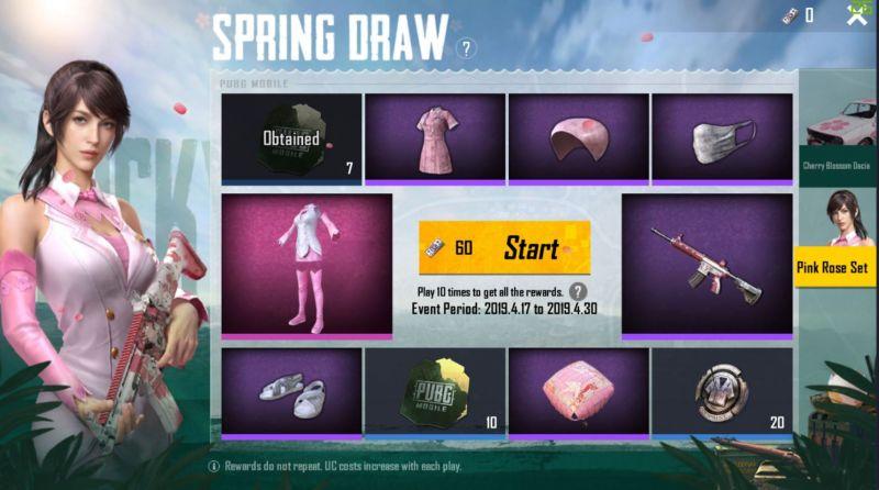 Spring Draw in PUBG Mobile