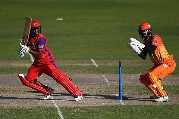 chanderpaul during a local t20 match