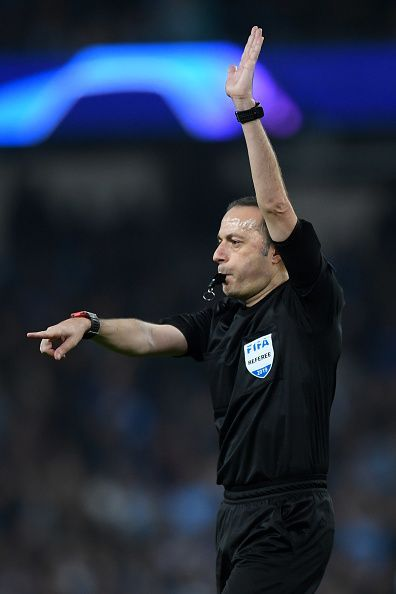 The Turkish referee disallows Manchester City's injury time winner
