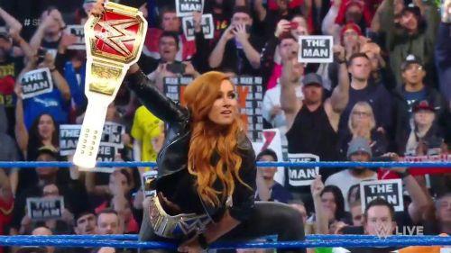 Becky Lynch's celebration continued on SmackDown Live.