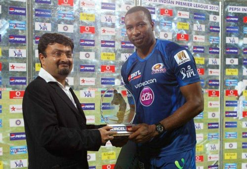Kieron Pollard was awarded the 'Man of the Match' for his all-around skills (Picture courtesy: iplt20.com)