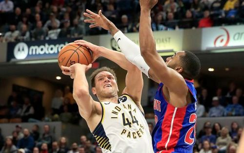 Bojan Bogdanovic in action against the Detroit Pistons
