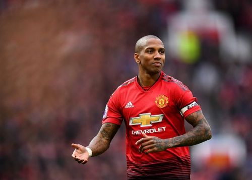 Ashley Young as Manchester United captain