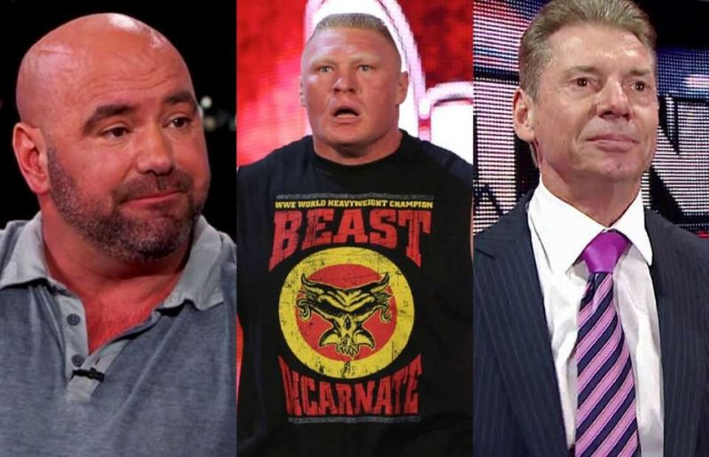 White, Lesnar, and Vince