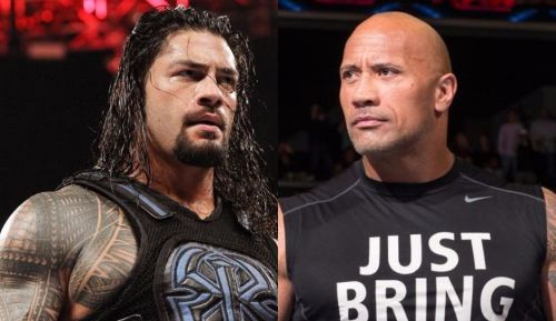 Image result for roman reigns vs the rock