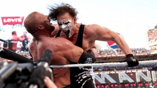 Why was Sting booked to lose his first WrestleMania match?