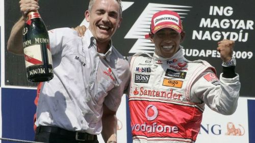 Hamilton takes a win at last in Hungary in late 2009
