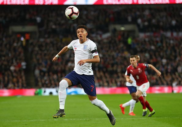 Jadon Sancho-the player most frequently linked to a move to Old Trafford