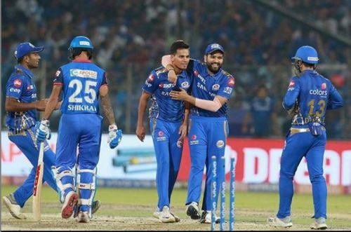 Rahul Chahar picked 3 wickets (Image courtesy: IPLT20/BCCI)
