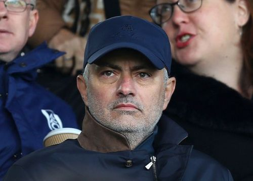 Jose Mourinho was spotted seeing the game between Fulham and Everton in London