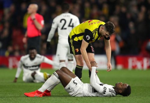 Fulham players react to being relegated after Watford defeat