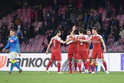 Arsenal comfortably brushed Napoli aside