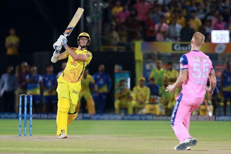 Mitchell Santner against Rajasthan Royals