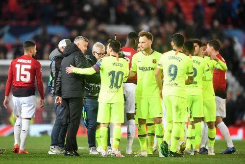 f2ba22e7 Barcelona earned a 1-goal advantage against Manchester United at Old  Trafford