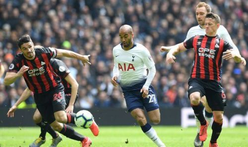 Lucas Moura was on song against relegated Huddersfield