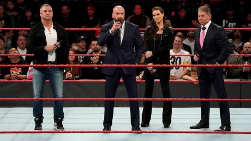 Triple H and the McMahons took control of Raw and SmackDown Live in December 2018