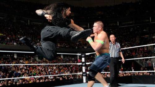 John Cena gets Reigns' Superman Punch