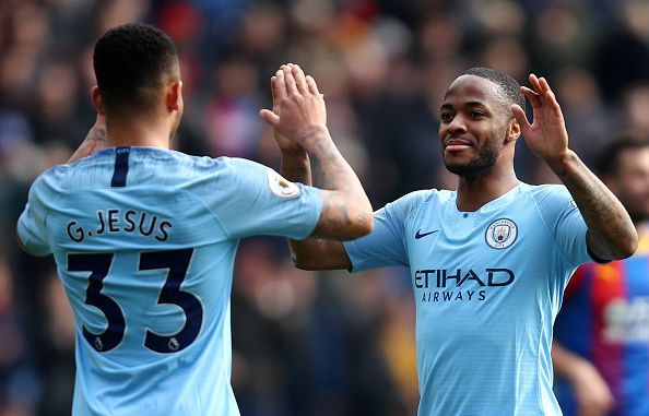 Gabriel Jesus and Raheem Sterling finished the game for Manchester City