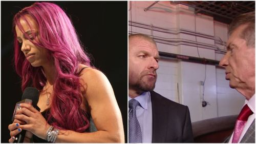 It's unclear who is in the meeting, but WWE definitely don't want Sasha Banks to leave