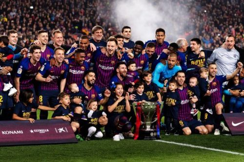 Barcelona won their 26th La Liga trophy on Saturday