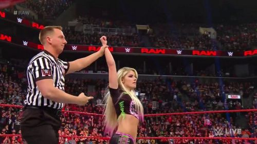 Bliss won her first match on her return to WWE