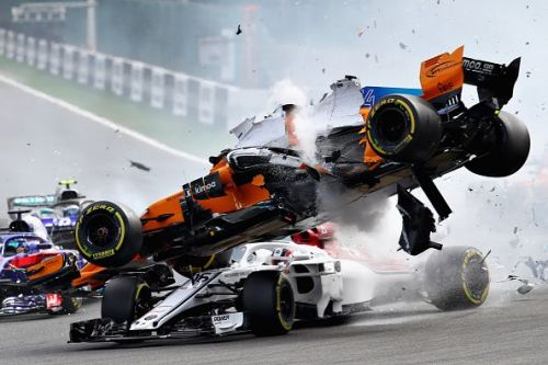 Last year's Belgian GP had a horrifying first corner crash.