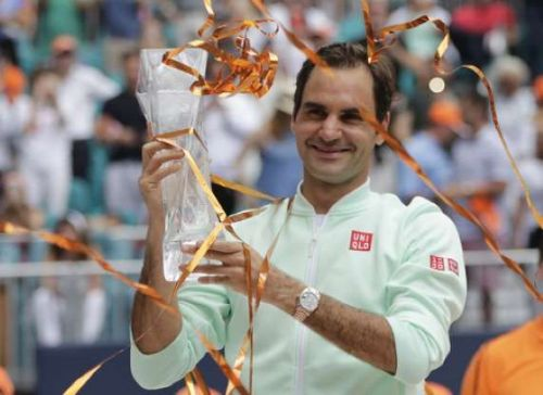 Federer won his second title of the year at Miami