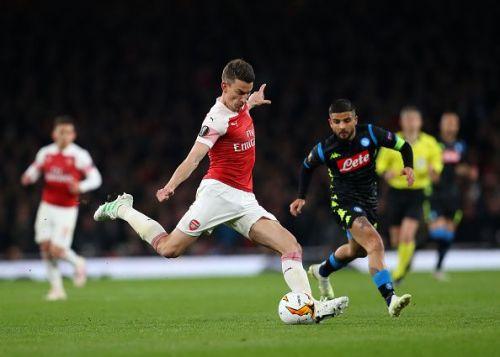 Arsenal v S.S.C. Napoli - UEFA Europa League Quarter Final: First Leg